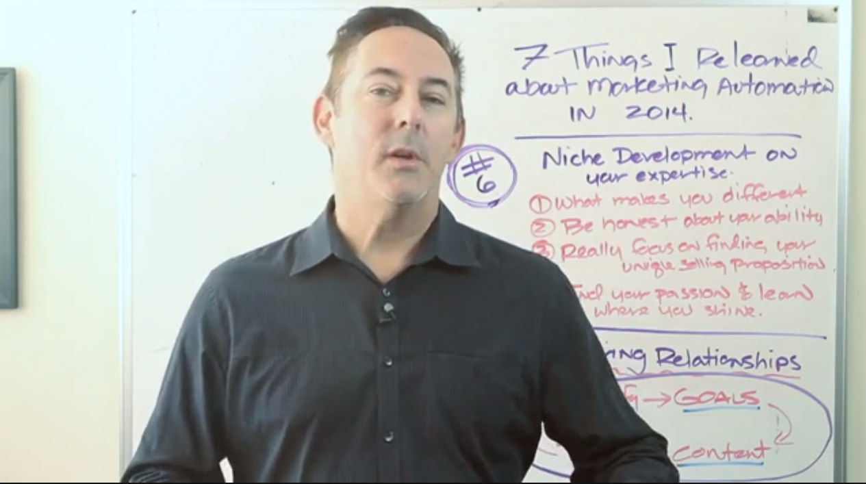 Niche development on your expertise – Tip 6 of 7