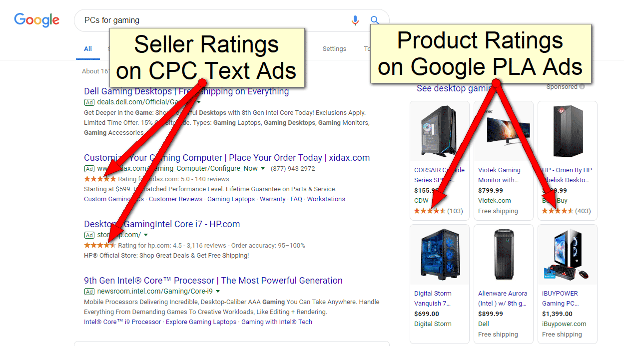 Google Product Ratings